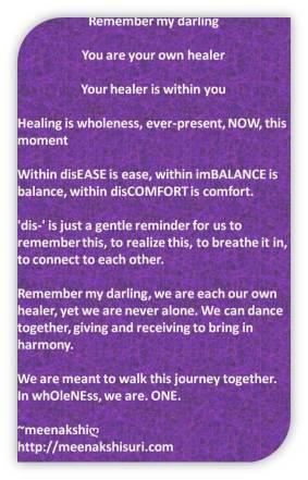 within discomfort own healer dance